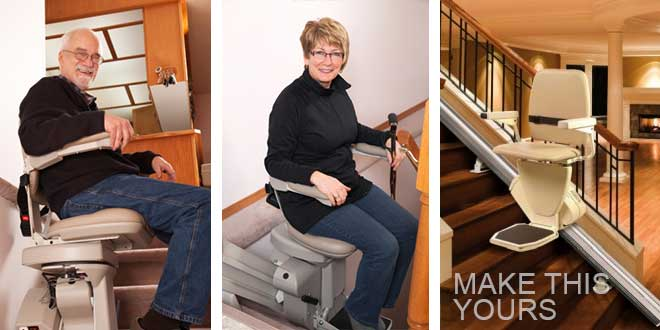 Elderly Using Stair Lifts